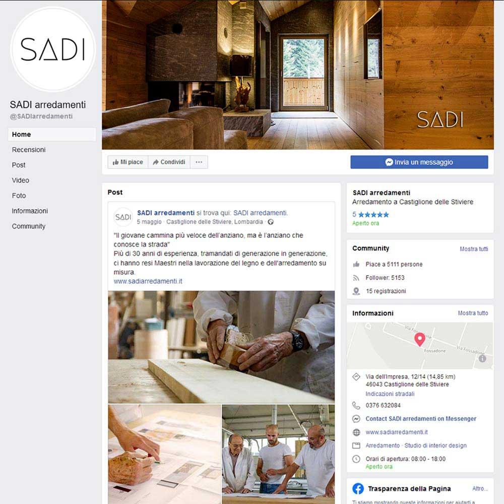 pagina professionale Facebook SADI